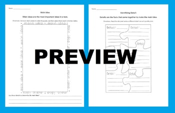 Main Idea & Details Puzzle Activity: Cut Out Details to Form a Main Idea Puzzle!