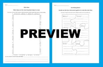 Main Idea & Details Puzzle Activity: Cut Out Details to Form a Main Idea Puzzle!