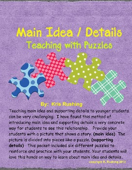 Main Idea & Details - Teaching with Puzzles