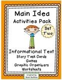 Main Idea Nonfiction Task Cards Activities
