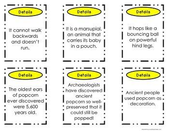 Main Idea Nonfiction Passages and Activities