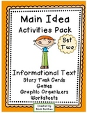 Main Idea Nonfiction Task Cards Activities