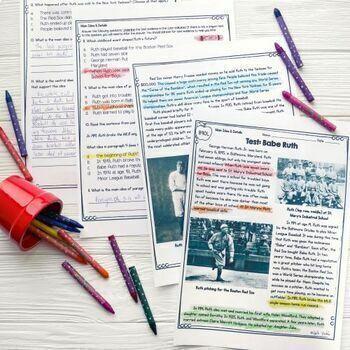 Main Idea & Details in Nonfiction- 4th & 5th Grade RI.4.2/ RI.5.2