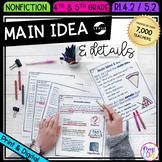 Main Idea and Details in Nonfiction 4th Grade RI.4.2 5th Grade RI.5.2