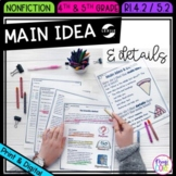 Main Idea & Details - 4th Grade RI.4.2 & 5th Grade RI.5.2 - Printable & Digital