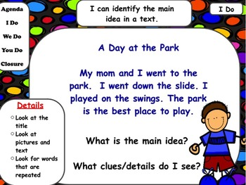 Main Idea & Details in Short Stories: Flipchart & Worksheets