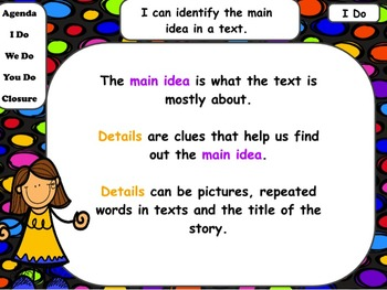 Main Idea & Details in Short Stories: Powerpoint & Worksheets