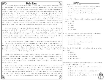 Main Idea Differentiated Leveled Texts and Questions