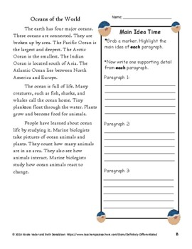 Main Idea - Differentiated Passages