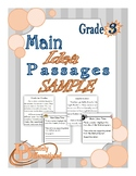 Main Idea - Differentiated Passages FREE SAMPLE