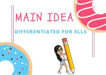 Main Idea Differentiated for ELLS & All Learners!