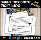Main Idea Digital Task Cards ⭐ Google Forms Reading Comprehension