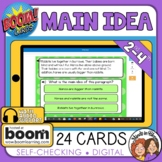 Main Idea Digital Task Cards on Boom Learning!