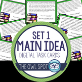 Main Idea Digital Task Cards set 1 Test Prep