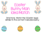 Main Idea Easter Bunny & Easter Egg Match
