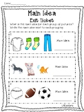 Main Idea Exit Ticket Freebie