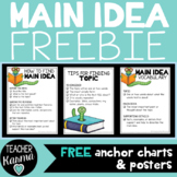 Main Idea Anchor Charts & Posters