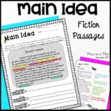 Main Idea and Details Fiction | Reading Comprehension Passages and Questions