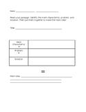 Main Idea Fiction Graphic Organizer