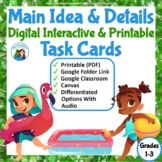 Main Idea Fiction and Nonfiction  Task Cards and Assessment
