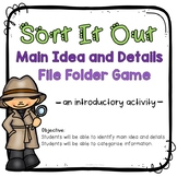 Main Idea and Details File Folder Game