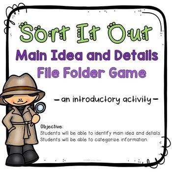 Main Idea: File Folder Game