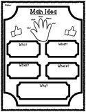 Main Idea Five W's Graphic Organizer