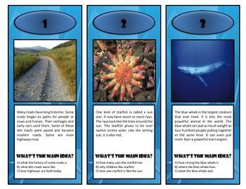 Main Idea Flip Cards {FREEBIE!!!}