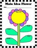 Main Idea Flower Graphic Organizer Spring Theme