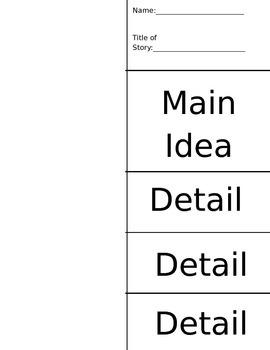 Main Idea Fold-able