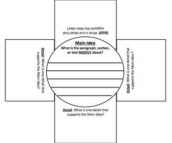 Main Idea & Supporting Details Foldable - Great for Reading & Writing!!!