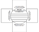 Main Idea & Supporting Details Foldable - Great for Readin