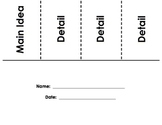 Main Idea Foldables and Worksheets