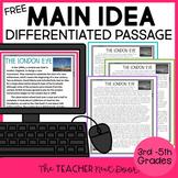 Main Idea Freebie for 3rd - 5th Grades | Free Main Idea Pa