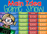 * Main Idea - Jeopardy style game show Distance Learning