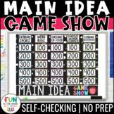 Main Idea Game Show   Find the Main Idea   ELA Test Prep Reading Review Game