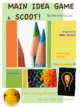 Main Idea Game and SCOOT!