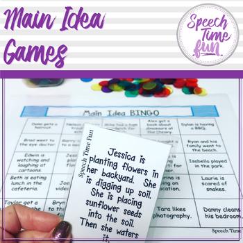 Main Idea Games!