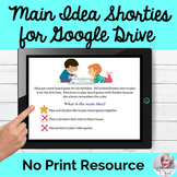 Main Idea Google Drive Activity No Print Speech Therapy  Distance Learning