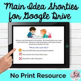 Main Idea Google Drive Activity No Print Speech Therapy  D