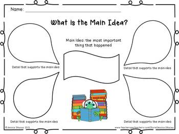 photograph about Main Idea Graphic Organizer Printable referred to as Central Notion Impression Organizer - Sarofudin Website