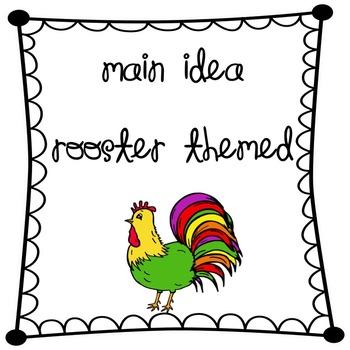 "Main Idea Graphic Organizer Chicken, Egg, Nest (used with"""