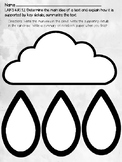 Main Idea Graphic Organizer Cloud and Raindrops