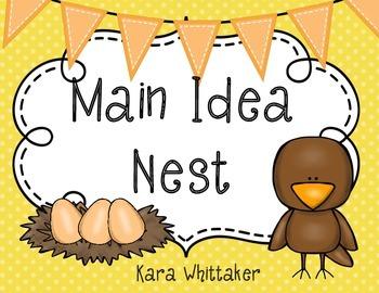 Main Idea & Details Graphic Organizer (Main Idea Nest!)