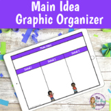 Main Idea Graphic Organizer for Google Classroom | Distanc