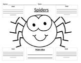 Main Idea Graphic Organizer on Spiders