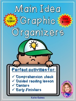 Main Idea Graphic Organizers- $1.00 ONLY!