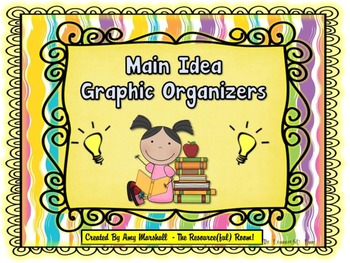 Main Idea Graphic Organizers (Color/Black&White)