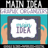 Main Idea Graphic Organizers: Google Edition
