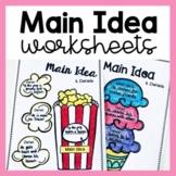 Main Idea Graphic Organizers (Reading Response Worksheets)
